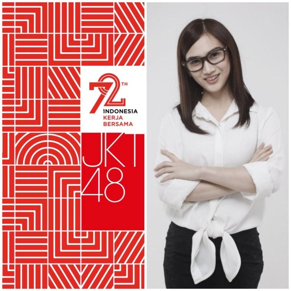Melody Nurramdhani: Cintailah dirimu sebelum orang lain. Cintailah bangsamu sebelum bangsa lain. #INDONESIAKERJABERSAMA #17ANJKT48.Foto: Twitter