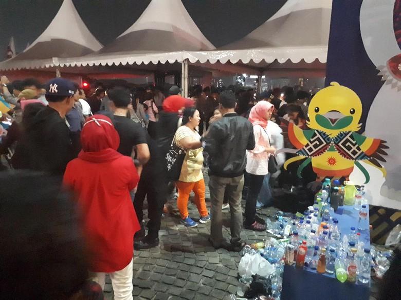 Catat! Penonton Countdown Asian Games Dilarang Bawa Botol Minum