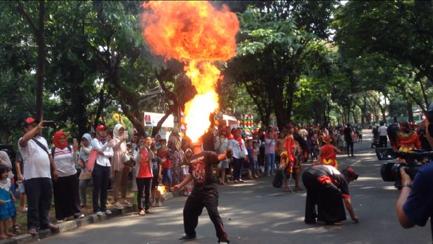 Serunya karnaval peringatan HUT ke-72 RI di Kopassus
