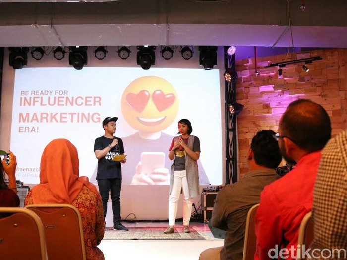 Acara workshop How to be a Good Influencer. Foto: Muhammad Alif Goenawan/detikINET