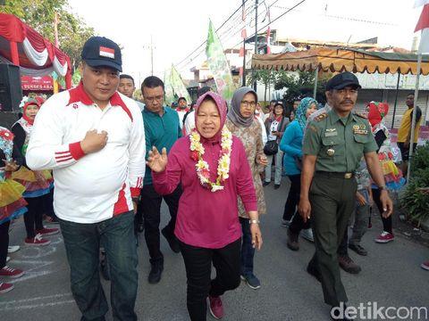 Wali Kota Risma dan Camat Wonocolo/