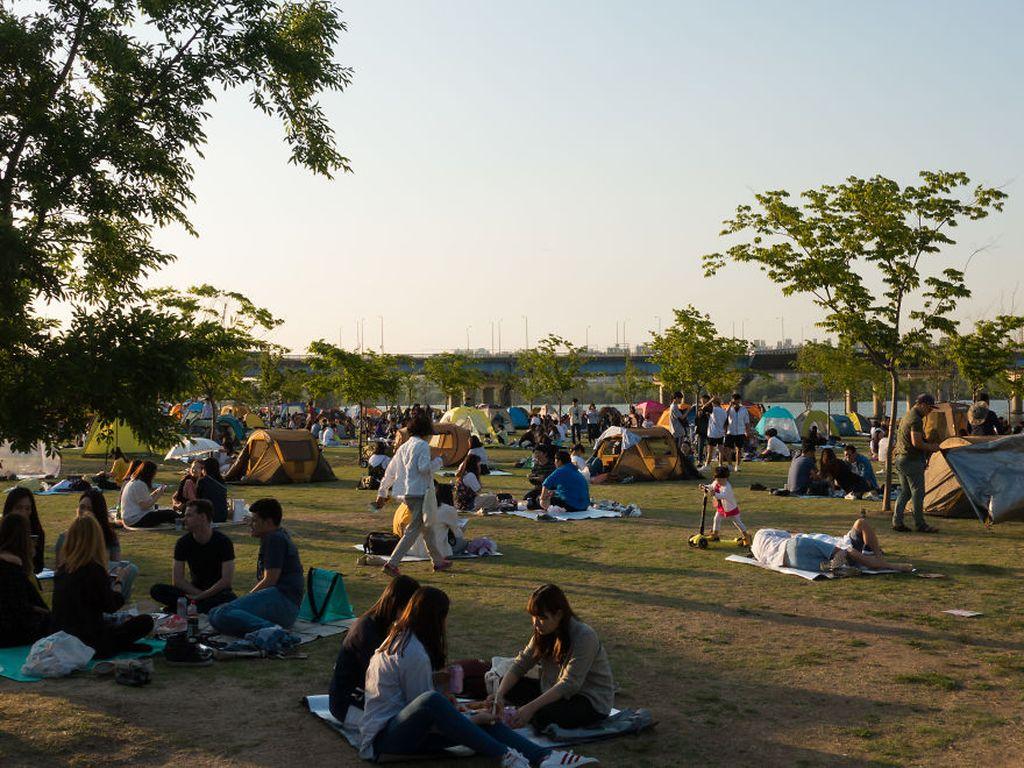 Mengisi waktu senggang di Korea Selatan. Foto: Jacob Laukaitis