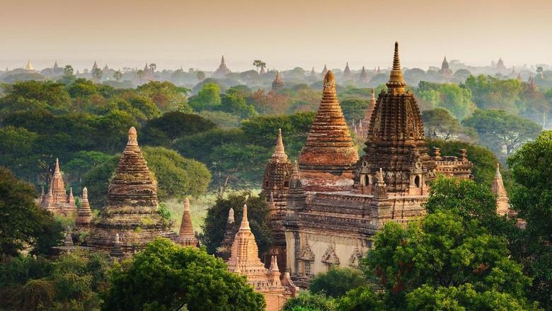 Situs sejarah Bagan di Myanmar (Thinkstock)