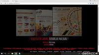 Bendera Indonesia Terbalik, Situs Malaysia Diretas