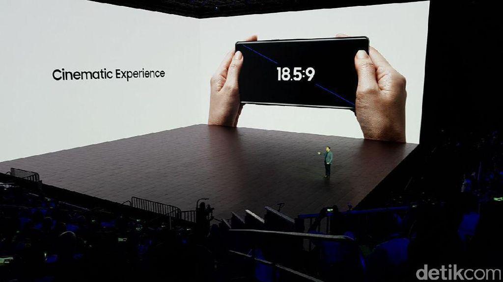 Inilah Galaxy Note 8 yang secara wujud mirip dengan Galaxy S8. Foto: Achmad Rouzni Noor II/detikINET