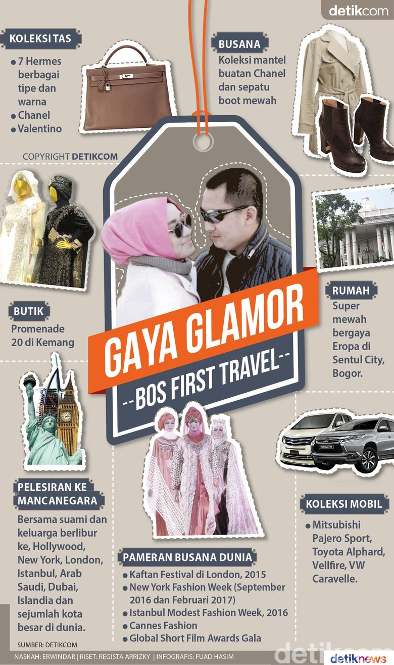 Gaya Glamor Bos First Travel