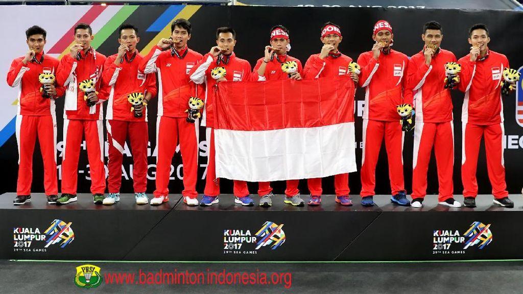 Indonesia Pertahankan Medali Emas Bulutangkis Beregu Putra