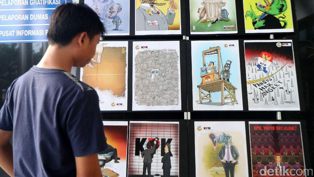 Pameran Komik Antikorupsi di KPK