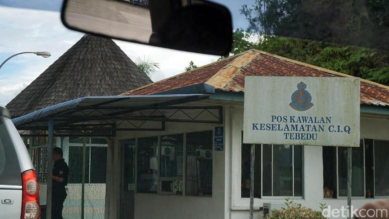 Pos Lintas Batas Tebedu Malaysia (Rachman Haryanto/detikTravel)