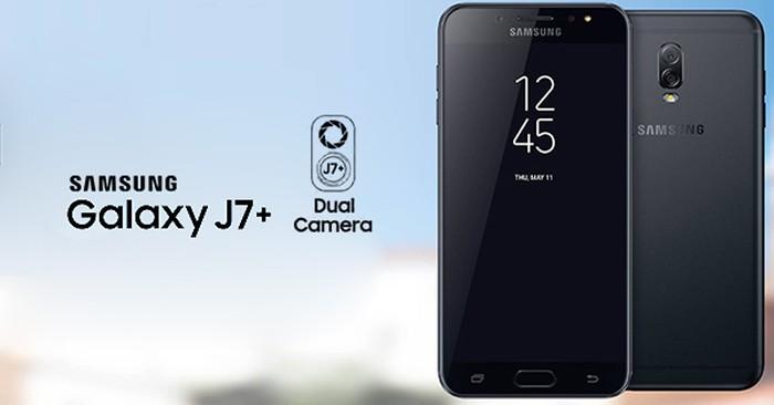 Galaxy J7+. Foto: istimewa