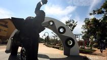 Fasilitas Taman di Kota Tangerang Dibangun Dari Ban Bekas