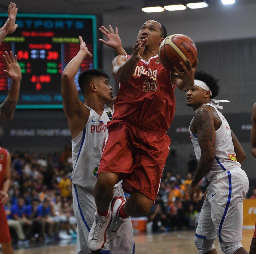 Dikalahkan Filipina, Tim Basket Putra Indonesia Raih Medali Perak