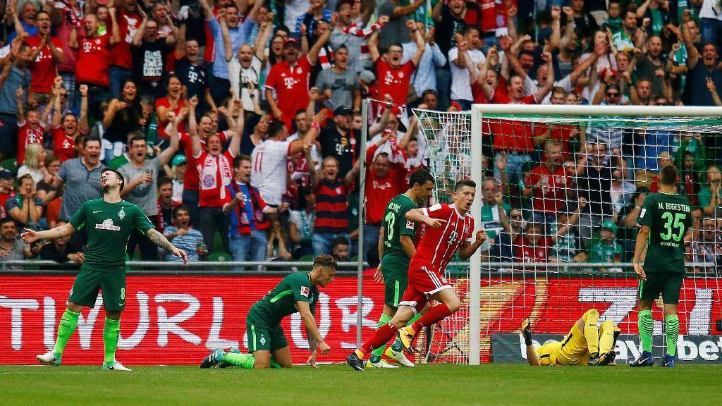 Dua Gol Lewandowski Menangkan Bayern di Kandang Bremen