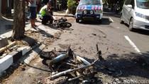 Serempetan, Dua Sepeda Motor Hangus Terbakar di Boyolali