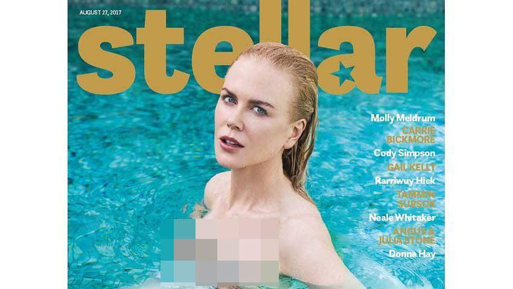 Nicole Kidman Tampil Menggoda untuk Cover Majalah di Usia 50