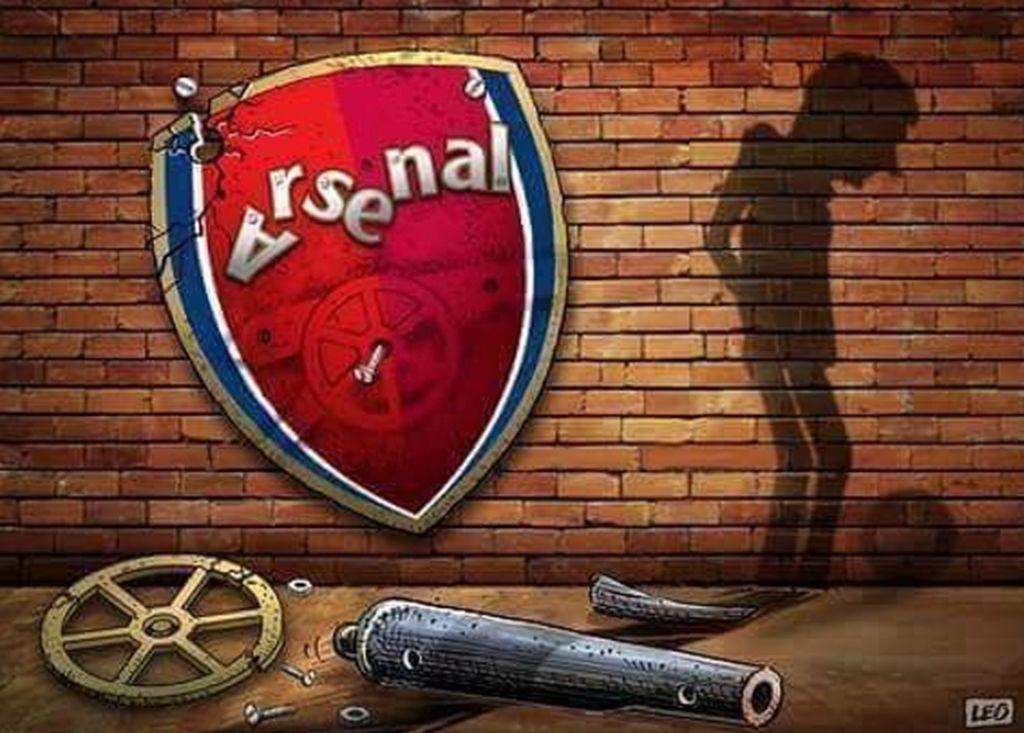 Gudang senjata Arsenal sudah berantakan. Foto: istimewa