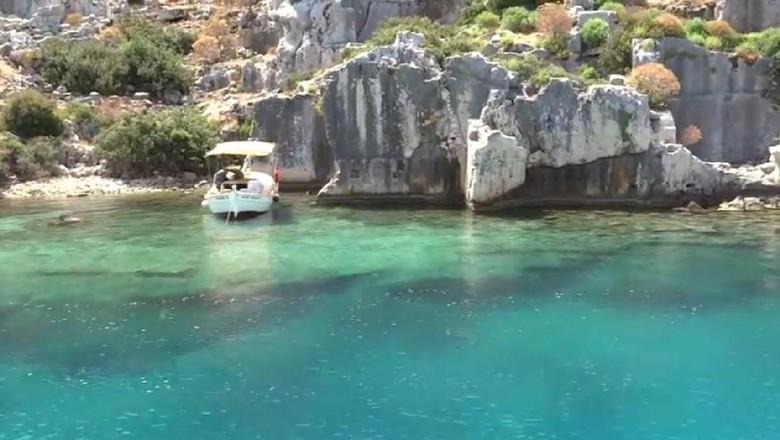 Kota kuno bawah laut Simena di Turki (DJONDO/Youtube)