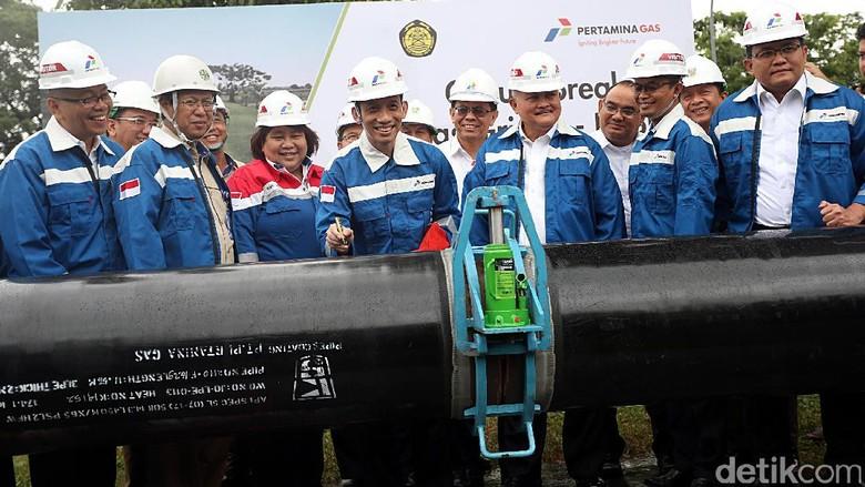 Pembangunan Pipa Gas Bumi Grissik-Pusri 176 Km Dimulai