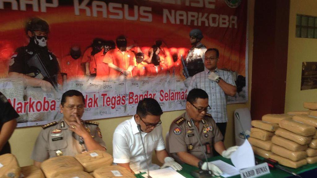 Polisi Gagalkan Pengiriman 225 Kg Ganja Asal Aceh, 1 Pelaku Didor