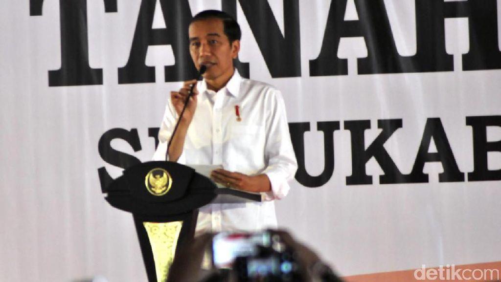 Bagikan 5.500 Sertifikat Gratis, Jokowi: Awas Jangan Ditukar Mobil