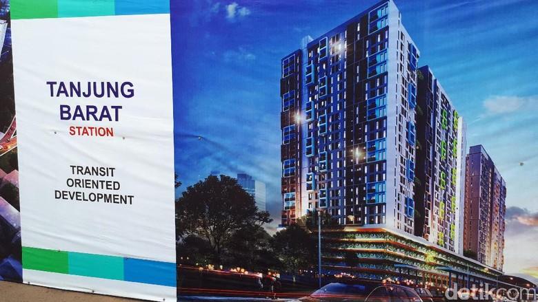 Mau Punya Rumah di Atas Stasiun Tanjung Barat? Bisa Pesan di Sini