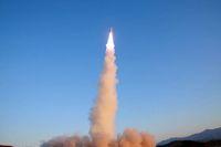 Peluncuran rudal Pukguksong-2 oleh Korut /