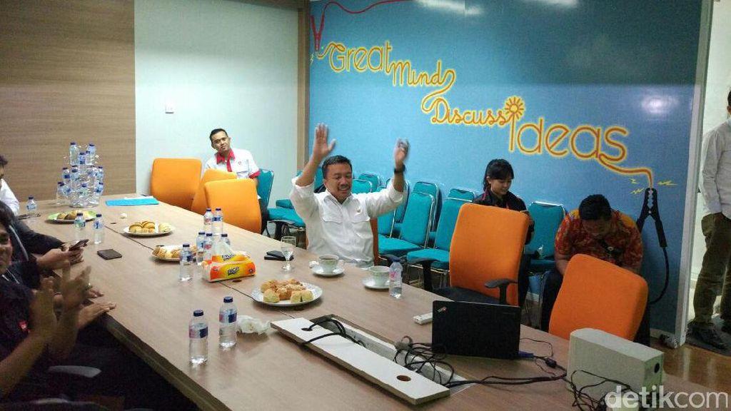 Menpora Nobar Indonesia vs Myanmar di Markas Detik