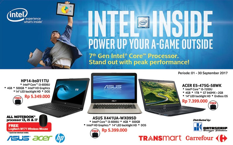 Beli Laptop Gratis Wireless Mouse di Transmart dan Carrefour