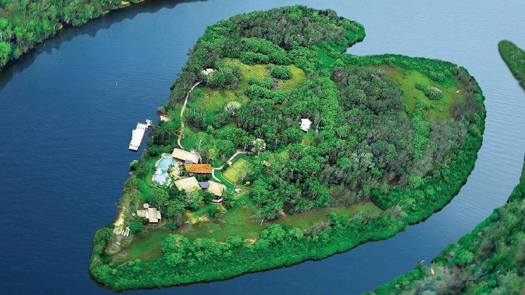 Foto: Hotel Mewah di Pulau Berbentuk Hati