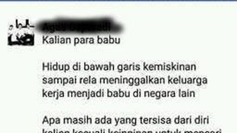 Viral TKI Dihina Babu di FB, BNP2TKI: Jangan Rendahkan Mereka
