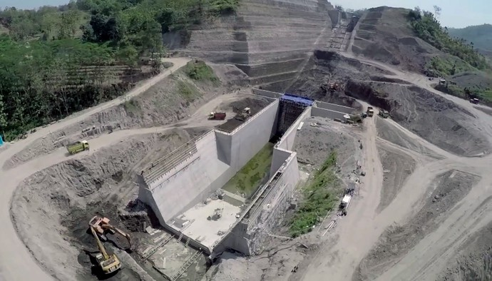Foto: Yuk Intip Megahnya Proyek Bendungan Logung di Era Jokowi