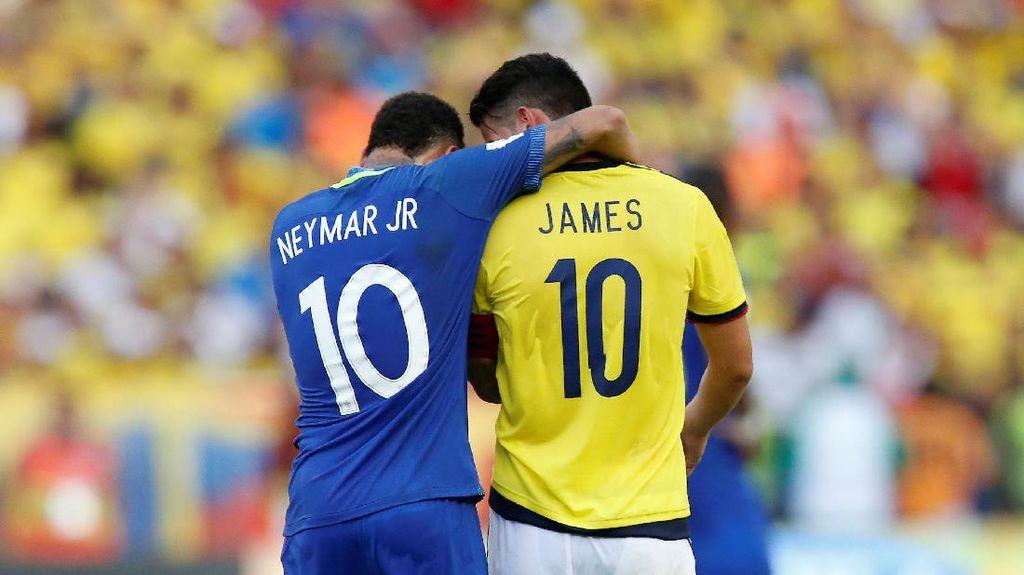 Neymar vs James, Bukan di El Clasico
