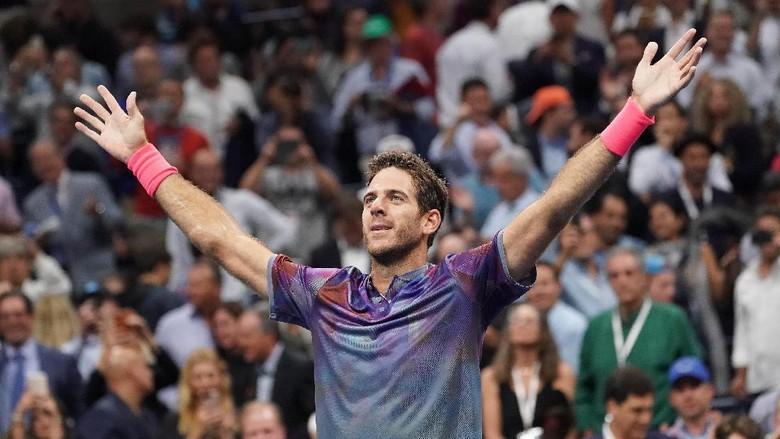 Del Potro Singkirkan Federer, Akan Hadapi Nadal di Semifinal