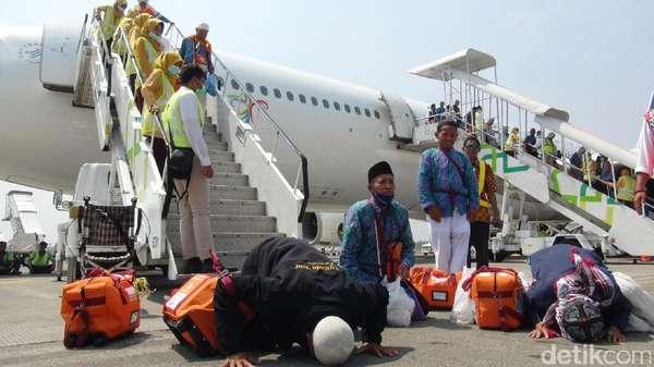 391 Haji Asal Sumut Sudah Tiba di Tanah Air