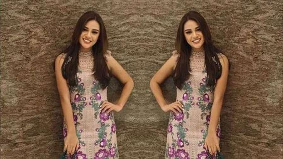 Gaya Aurel Hermansyah dengan Dress Floral