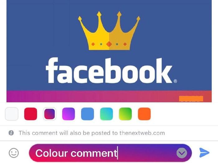 Komentar berwarna di Facebook. Foto: istimewa