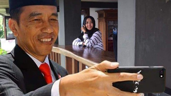 Frame selfie bareng jokowi di Facebook. Foto: istimewa