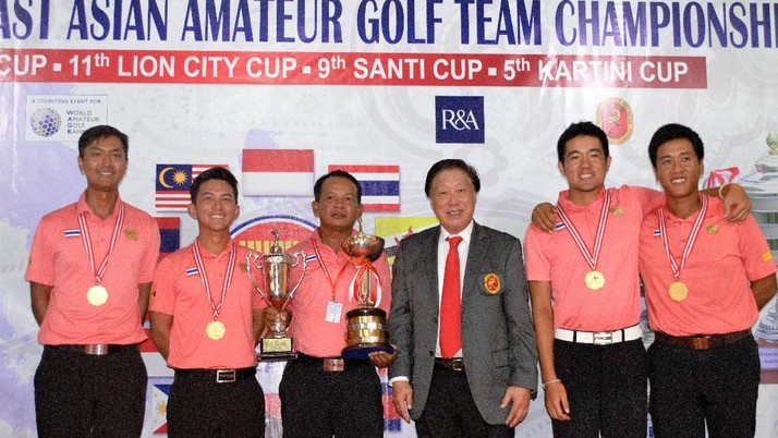 Thailand Sapu Bersih di SEA Amateur Golf Team Championship 2017