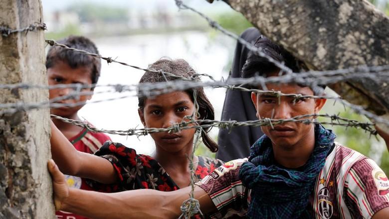 Terus Bertambah, 313 Ribu Warga Rohingya Mengungsi ke Bangladesh