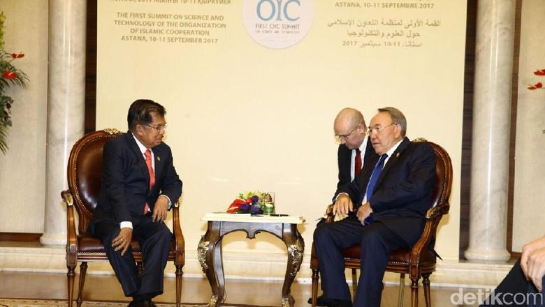 Presiden Kazakhstan Bagi Pengalaman Pindahkan Ibu Kota ke Wapres JK