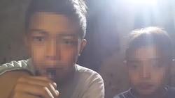 Sebuah video yang menyebar luas di media sosial menunjukkan dua anak laki-laki di bawah umur dengan bangganya mengisap rokok elektrik.