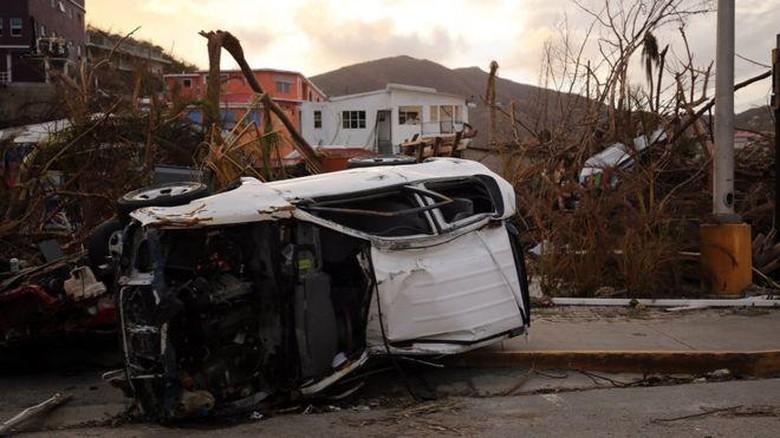 British Virgin Islands yang Luluh Lantak Diterjang Badai Irma