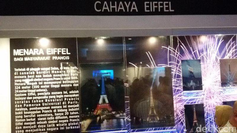 Ada zona yang baru diresmikan di Taman Pintar Yogya, yaitu Zona Menara Eiffel. Di zona ini, kamu bisa mendapatkan gambaran tentang menara Eiffel yang mendekati aslinya (Edzan Raharjo/detikTravel)