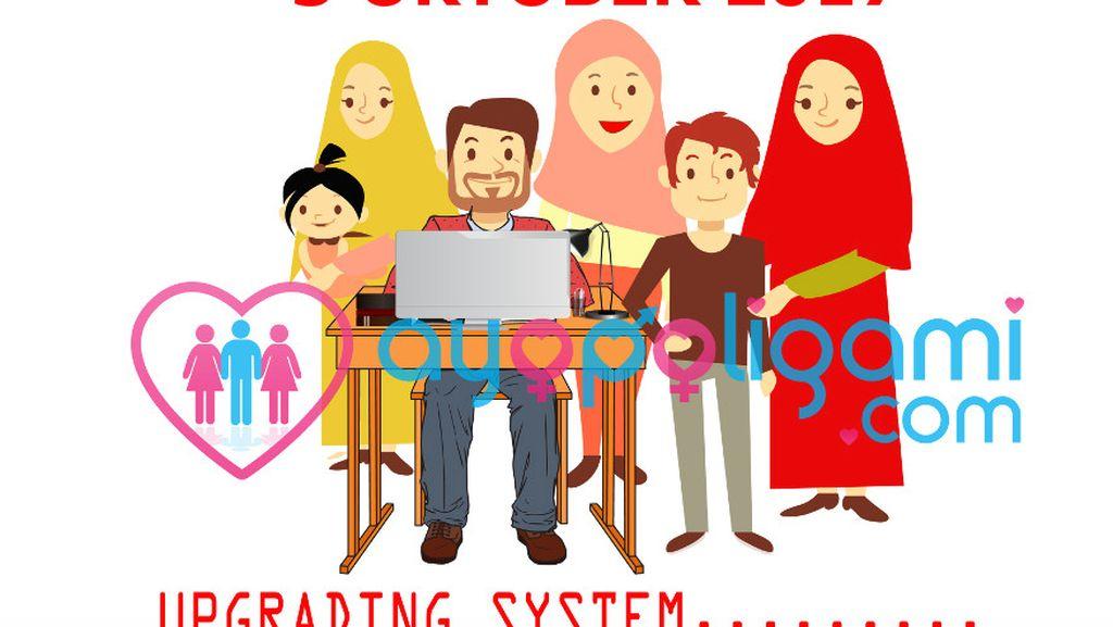 Website dan Aplikasi AyoPoligami Tak Berfungsi