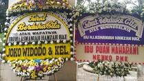 Karangan Bunga dari Jokowi hingga Habibie untuk Istri Hamzah Haz