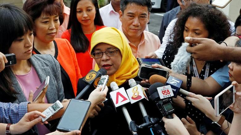Jadi Presiden Wanita Pertama Singapura, Ini Janji Halimah Yacob