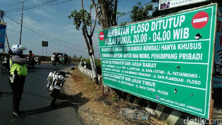 Jembatan Ploso Diperbaiki, Jalur Jombang-Tuban Ditutup 3 Bulan
