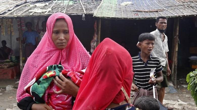 Kekurangan Makanan dan Obat, Rohingya di Rakhine Tunggu Bantuan