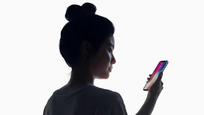 Face ID di iPhone X. Foto: Apple