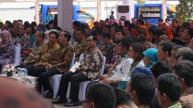 Presiden Joko Widodo mengatakan pembangunan Gedung Perpustakaan Nasional itu digagas Presiden Sukarno 65 tahun silam.